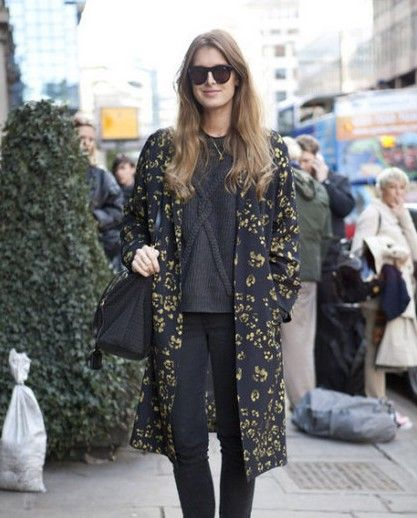 学欧美达人穿大衣变身街头时髦客