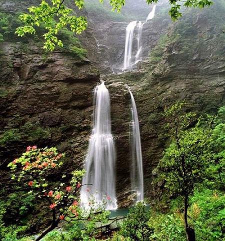 壁纸 风景 旅游 瀑布 山水 桌面 450_483