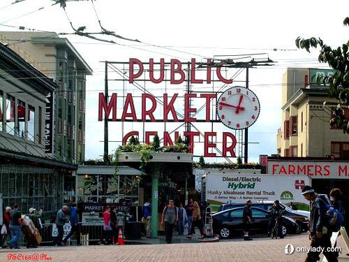 西雅图派克市场 当购物遇上西雅图高清图片