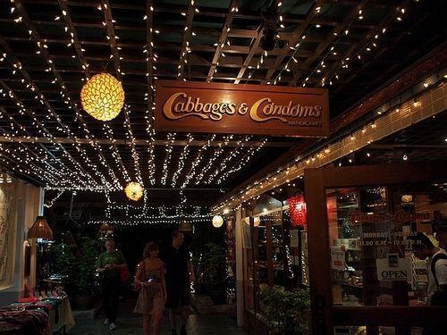 """泰国曼谷令人面红的""""避孕套""""餐厅"""