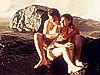 澳洲男女共浴瀑布