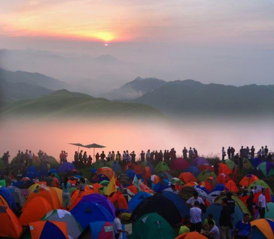 武功山顶看日出
