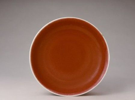 古瓷鉴赏:明永乐官窑鲜红釉盘