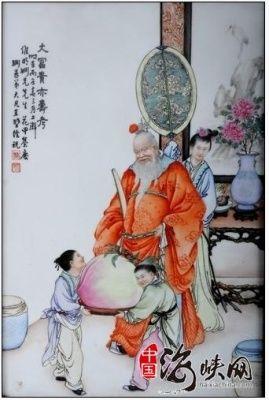 粉彩大富贵亦寿考图瓷板鉴赏(图)