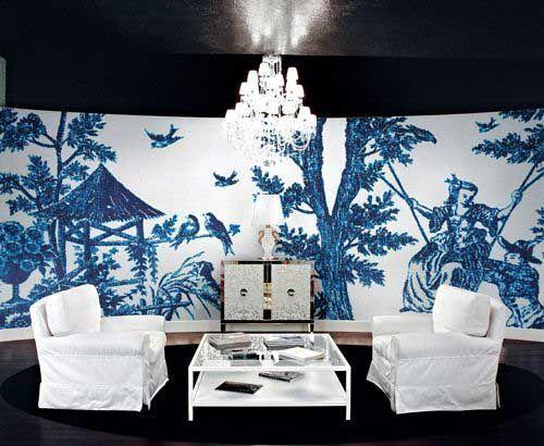 中国式青花瓷装修风格典雅妩媚