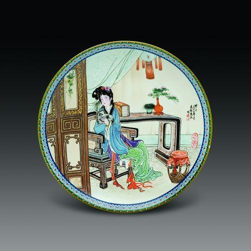 瓷器鉴赏:《红楼梦·十二金钗》彩盘