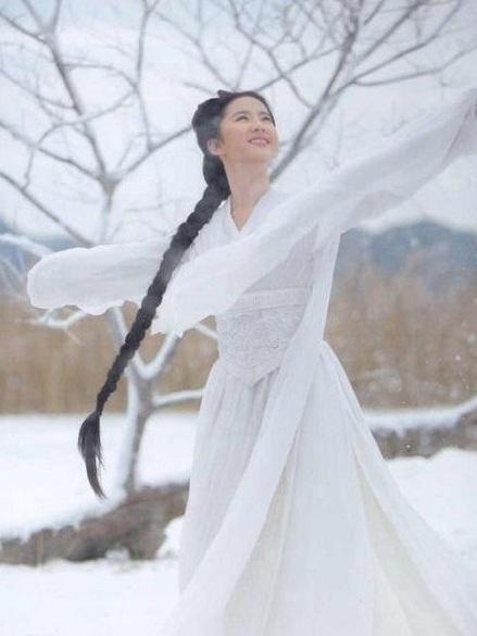 私以为刘亦菲的小龙女看静态的照片比动态更有意境