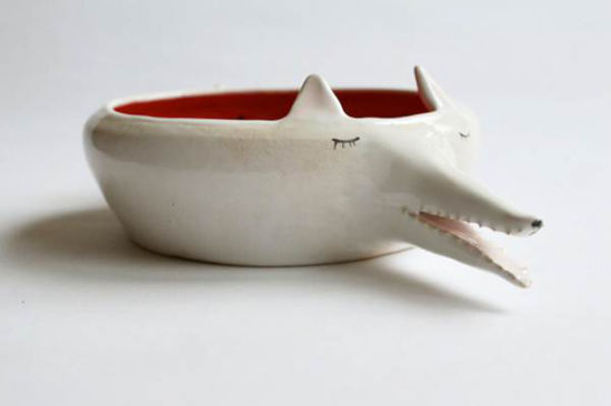 萌宠动物型陶瓷碗家居最佳摆件