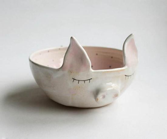 萌宠动物型陶瓷碗 家居最佳摆件