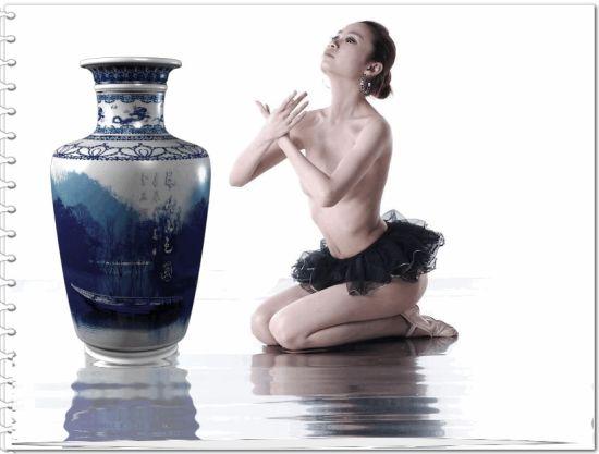 美女全裸青花瓷人体写真曝光
