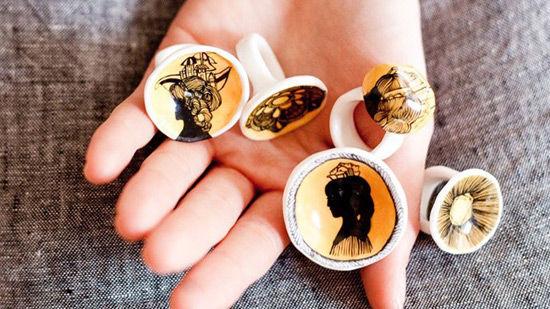 goldenink插画与陶瓷烧造最美饰品