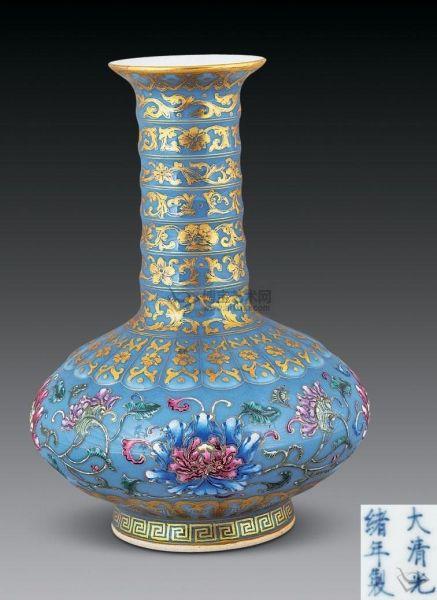 最美色彩天蓝釉瓷器鉴赏
