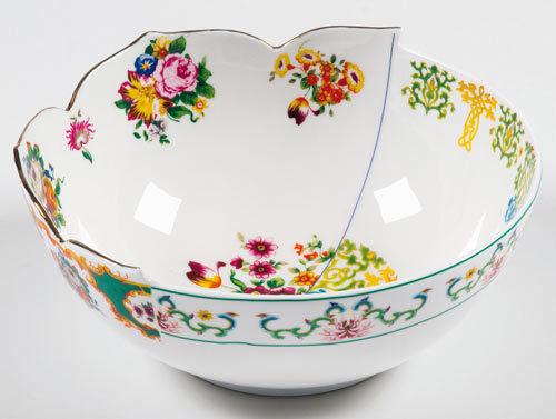 东西方元素混搭的陶瓷展示切割美
