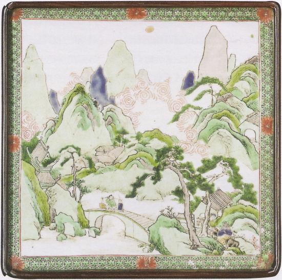 清朝康熙年间瓷板画反映民众生活