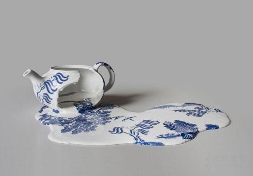 别具匠心的创意设计:溶解的瓷器
