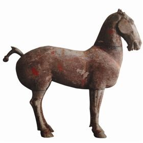 彰显西汉国力强盛的彩绘陶马