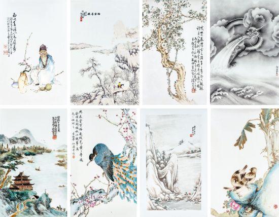 丹青瓷艺-名家瓷板画鉴赏
