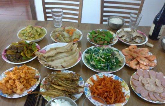 为妈妈做一桌子菜