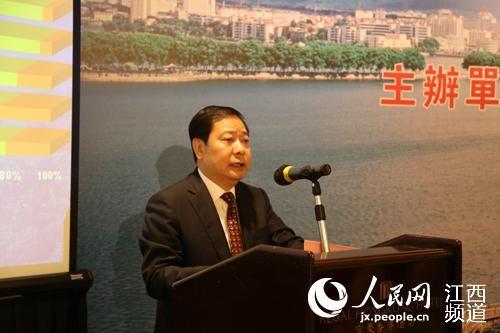 5月19日下午,九江(香港)重点产业对接座谈会召开,市委书记殷美根在会上发表了热情洋溢的讲话。(张雷摄)