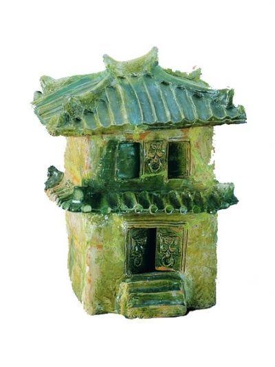 《古诗十九首》中的汉代黄釉陶楼