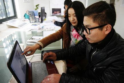 面对就业难,不少大学生走上了创业之路 □记者 齐抢先/文 记者 王斌图片