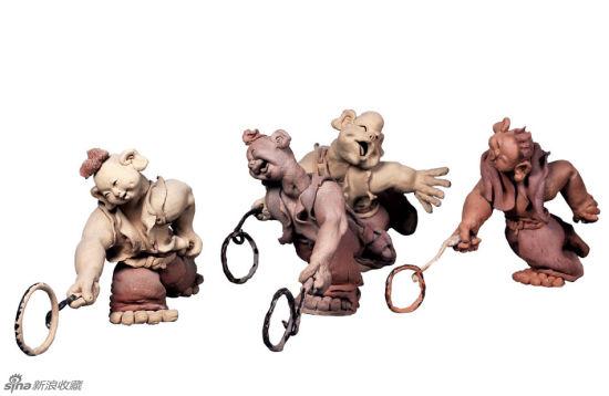 张志朴人物陶瓷雕塑作品欣赏