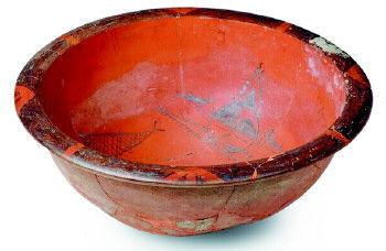 神秘奇特的人面鱼纹彩陶盆