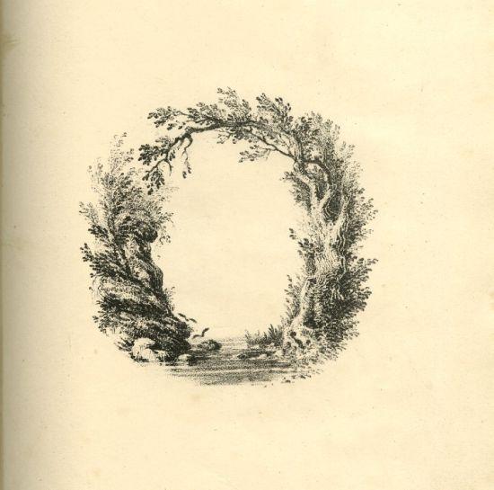 艺术家描绘的英文字母风景画