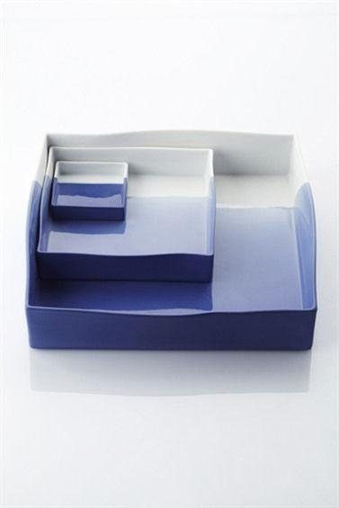 蓝白色釉家用瓷简约优雅风行