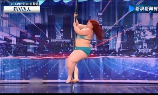 最重钢管舞者技艺高超 114公斤无所不能