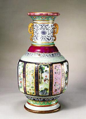 乾隆彩瓶施釉17种堪称瓷母