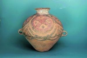 新石器马家窑文化彩陶蛙纹双系壶