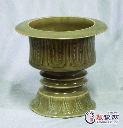 宋耀州窑仿新石器豆型炉赏析